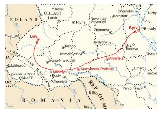 map - Travel Ukraine with us, and learn about the fascinating variety of Ukrainian Dance, Music & Costumes!