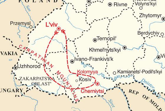 map - Ukraine is a photographer's dream destination
