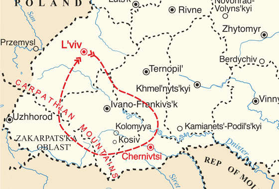 map - Experience the unique and ancient traditions of Ukrainian Christmas