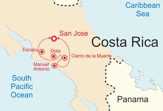 map - Experience the rich culture<br />of Costa Rica