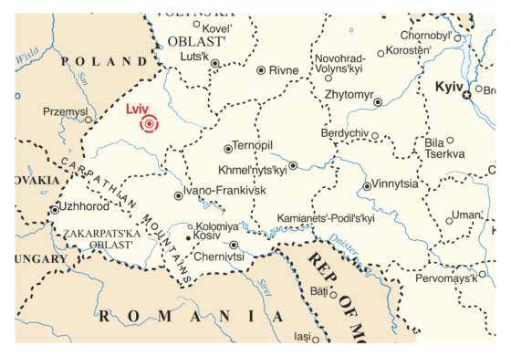 map - Three Day Lviv Tour