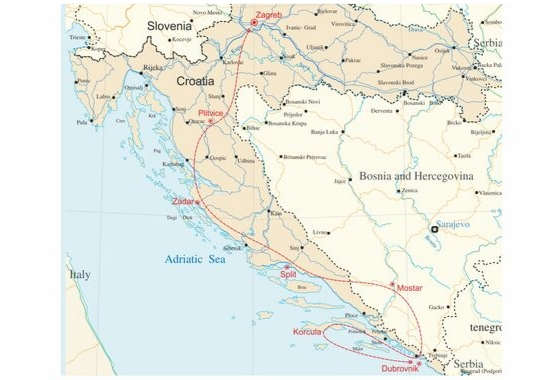 map - Explore the Beauty of Croatia