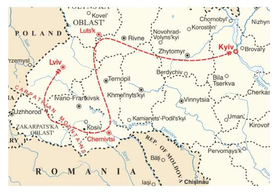 map - This is THE tour for those who appreciate traditional Ukrainian singing!