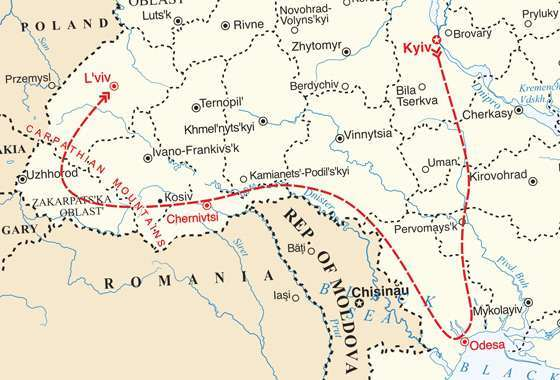 map - Experience Ukraine - East to West!