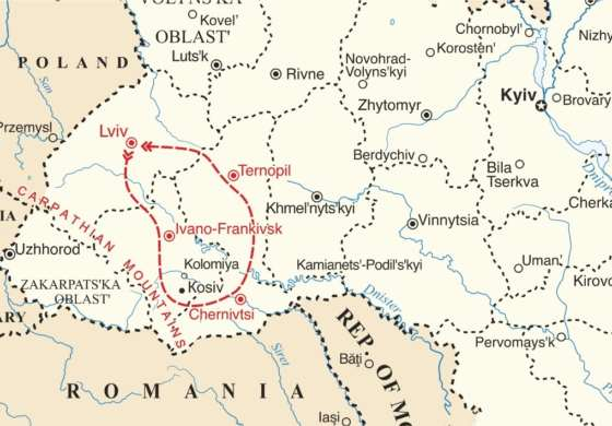 map - Join us for an unforgettable Ukrainian experience
