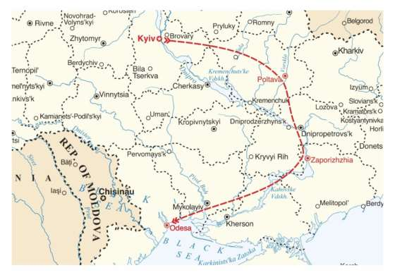 map - Discover the beating heart of Ukraine.