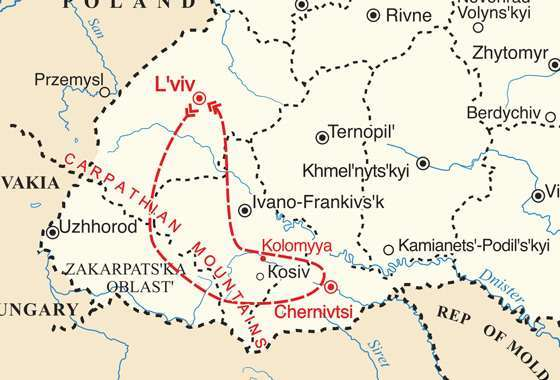 map - Discover the magic of Ukraine at wintertime