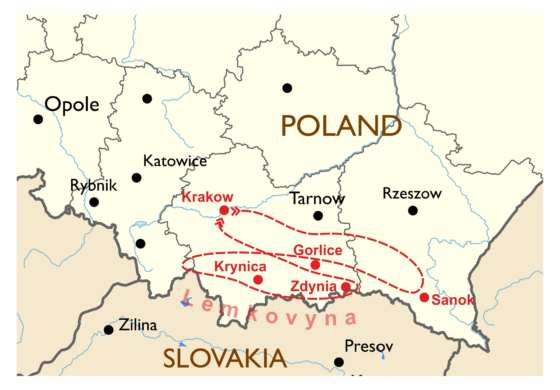 map - Delve into the Lemko culture!