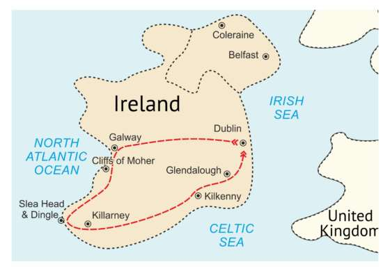 map - The amazing sights of Ireland are waiting for you!