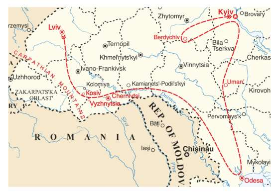 map - Discover the diverse Jewish cultural heritage of Ukraine