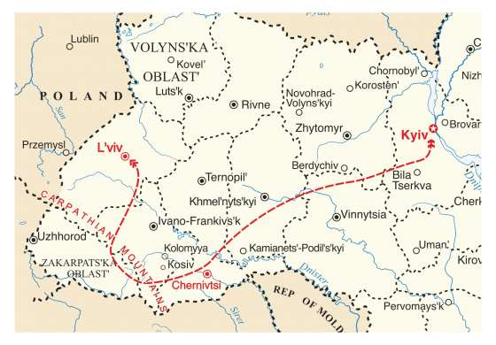 map - Discover a new Ukraine, filled with colour and culture!