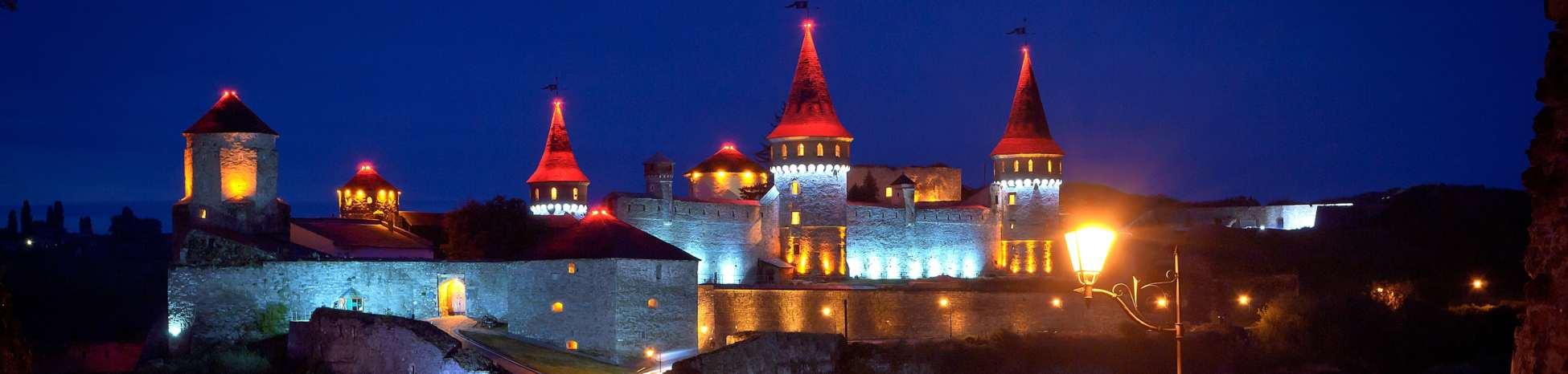 3 Кам'янець-Подільська_фортеця_-_нічна_панорама