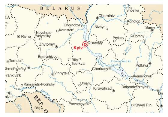 map - Four Day Tour in Kyiv!