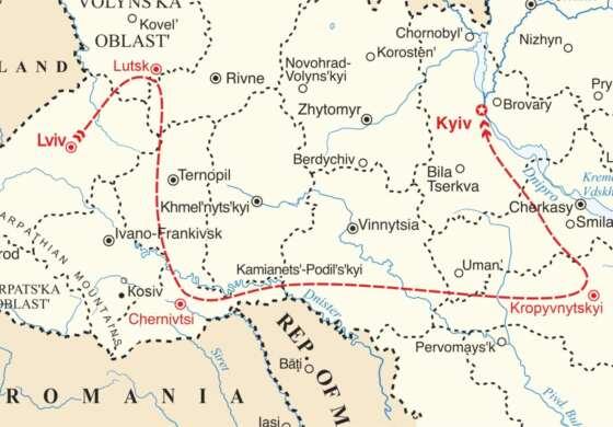 map - Live the life of a Professional Ukrainian Dancer