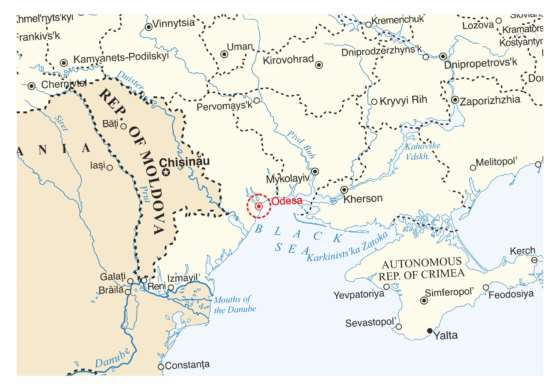map - Four Day Tour in Odesa!