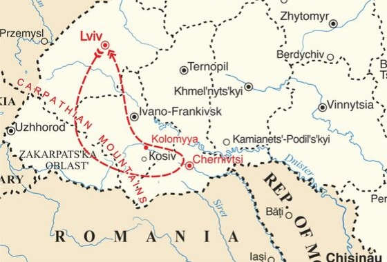 map - A trip of a lifetime!