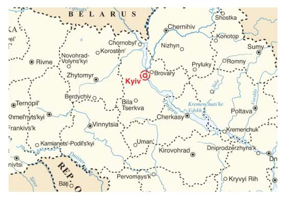 map - One-day trip to Chernobyl!