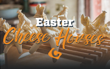 Easter Cheese Horses