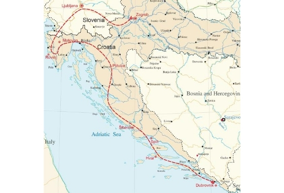 map - Croatia is an undiscovered, outstanding location for wine-lovers to visit.