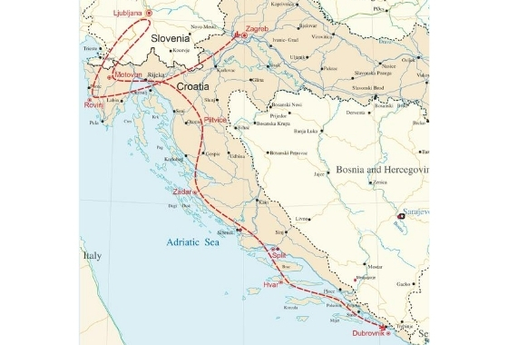map - See Croatia – from a woman's perspective